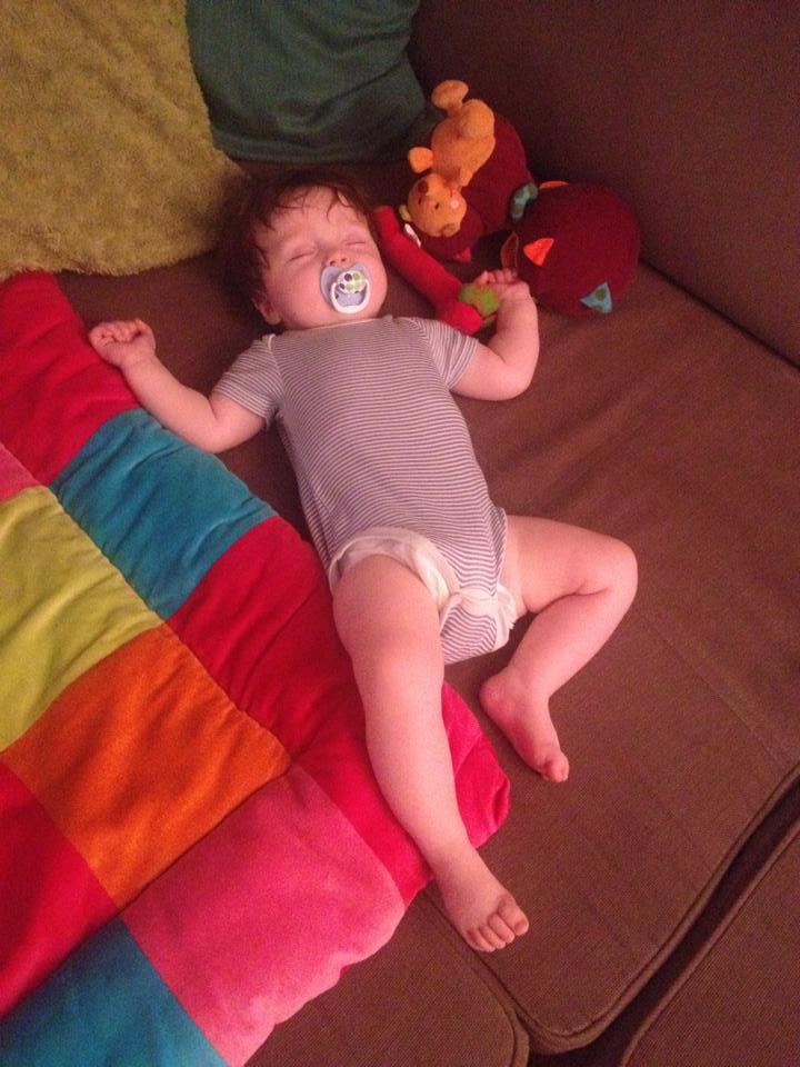 slapen baby 4 maanden